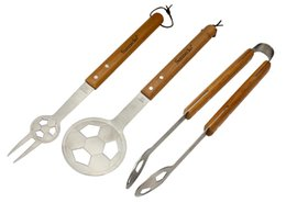 Wholesale SUNNECKO Stainless Steel Barbeque Tool Set SA Football Style for Football Fans Carnival and Family Party Best Choice