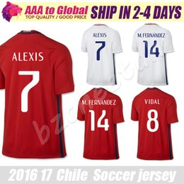 Wholesale Champion Chile jersey Copa America top quality Soccer jersey Camisa de futebol Chile Alexis Sanchez Valdivia Medel VIDAL jersey Adult f
