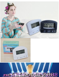 Wholesale BK Timer Kitchen Cookng Minutes Digital LCD Alarm Clock Medication Sport Countdown Calculator timers with Clip Pad White Black MYY