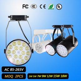 Wholesale Led Noverty led track lighting AC85 V Aluminum White and Black Shell Rail Ceiling Light Spotlight Best Price For Retail Hot Sale