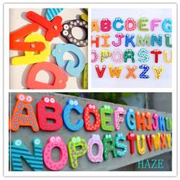 Acheter en ligne Étude sur les enfants-Gros-26 Alphabet Bois Fridge Magnet jouet éducatif étude pour les enfants Enfants Bébé