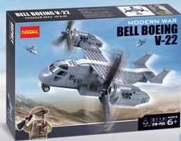 Wholesale 318pcs Modern War Bell Boeing V Military Carrier Humvee SWAT MiniFigure Building Bricks Blocks Toys Decool