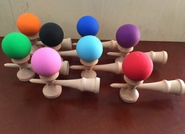 Wholesale kendama large wooden hardwood toy beech paint walnut store have pill kendama usa poise balls sale ball doll can color