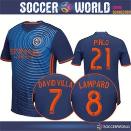 Wholesale New York City shirts NYCFC Away players version shirts Top quality PIRLO DAVID VILLA LAMPARD MIX POKU shirts