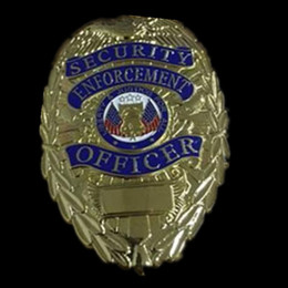Wholesale 10 per Non magnetic Brand new The United States Police Security Enforcement Officer Copper badge