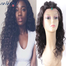Wholesale Affordable A Brazilian Natural Wave Full Lace Wig Heavy Density Lace Front Human Hair For Black Women With Baby Hair