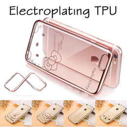 Wholesale Cartoon Royal Luxury Plating Gilded Soft Back TPU Silicone Clear Case Cover For iPhone S Plus inch S SE MOQ
