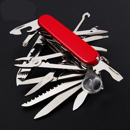 Wholesale Swiss mm Folding Knife Stainless Steel Multi Tool Army Knives Pocket Hunting Outdoor Camping Survival Knife