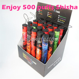 Wholesale Shisha pen Eshisha Disposable Electronic cigarettes shisha time E cigs puffs type Various Fruit Flavors Hookah pen