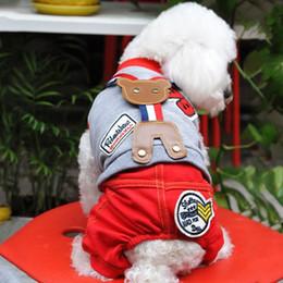 Fuentes del perro muelles en Línea-traje de la correa de la Osa DHL envío libre de la manga del algodón determinado de la ropa ropa cómoda perro del verano del resorte al por mayor de ropa para mascotas Suministros