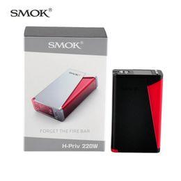 Wholesale SMOK H Priv W TC Box Mod Outstanding Performance Colorful Finish Option New Battery Cover Design Original VS Sigelei