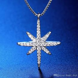 2017 заходящее солнце 925 ожерелье Женщина Корейский Set Chain The Sun Offspring фонд шестиугольная Stars Pendeloque Cut серебряные аксессуары заходящее солнце клиренс