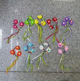 Hawaiian Hula Hawaii herbe jupes Accessoires Colorful Bijoux Fleur Perles Bracelet main en bois Filles Wristband et bracelets pour enfants à partir de bracelets en bois faits à la main fabricateur