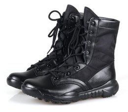 Wholesale Marine boots boots in spring and summer men s special forces combat boots super light hiking boots men tactical boots