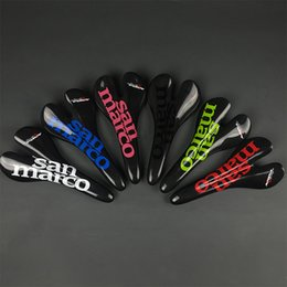 Wholesale San marco full carbon fiber road bike saddle racing team ASPIDE ultralight carbon bike seat saddlem mtb bicycle seat cushion