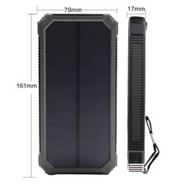 Wholesale Top mAh Portable Solar Power Bank Dual USB LED Backup Charger Battery