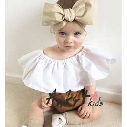 Wholesale 2016 Ins Hot baby girl infant toddler Summer white tops shirt blouse Cute Lace lotus leaf collar Big collar Sexy Tutu tops Ruffles