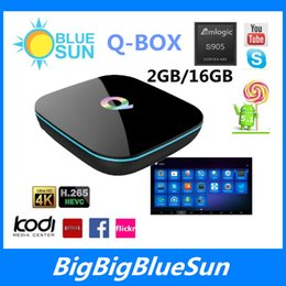Wholesale 2016 best android tv box Android amlogic S905 chipset Q Box Kodi16 bluetooth quad core Qbox