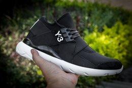 Wholesale Y Qasa Elle Lace Black White Low Cut Sport Shoes New Fashion y3 Mens Sneakers Size