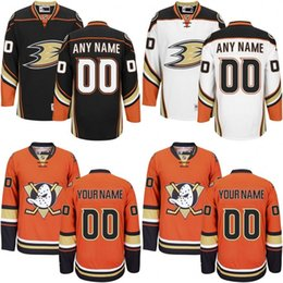 Wholesale Customized Men s Anaheim Ducks Custom Any Name Any Number Ice Hockey Jersey Authentic Jersey Embroidery Logos Accept Mix Ord size S XL