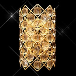 Crystal Wall Light Golden Silber AC85 265V AC110V AC220V Kristall K9 Leuchte Wandleuchte Leuchtet Lampe Wand Im Angebot
