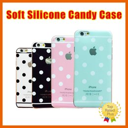 Wholesale New Cute Polka dots Candy Colorful Soft TPU Silicone Back Case Cover For Apple iphone s SE s plus