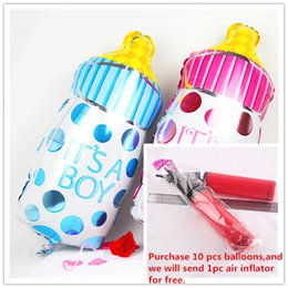 Wholesale Foil Balloons Party Decoration Born Baby Infant Milk Bottle Feed Balloons Aluminium Film Balloon Toys for Kids Boy Girl Party Supplies