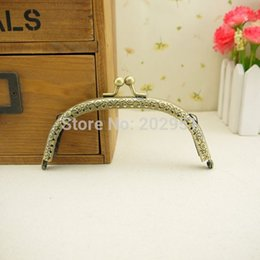 Wholesale Luggage Bags Bag Parts Accessories Track Ship DIY cm antique Bronze Metal Purse Frame Handle for Bag Sewing