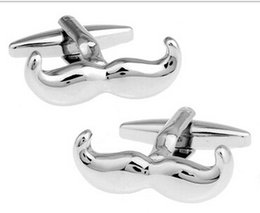 Wholesale Best Selling silver tone Mustache Cufflinks Cuff Links for shirts Cufflink For Mens French cufflinks Wedding Cuff Links L511
