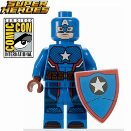 Wholesale SDCC COMIC CON EXCLUSIVE HYDRA Captain America Steve Rogers Minifigures Assemble Building Blocks Kids Learning Toys