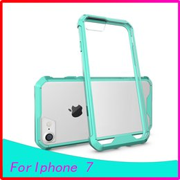 Wholesale New Coming Air Cushion Clear Crystal Acryli TPU Frame Hybrid Back Case Cover For Iphone7 plus s plus