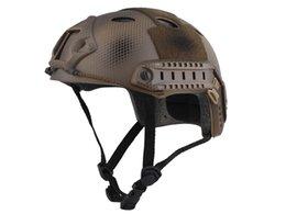 Wholesale FAST Army Helmet PJ TYPE Wargame Head Equipment EMERSON Combat Airsoft Paintball Helmet Seals Custom Version