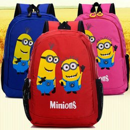 Niño Minions mochila Despreciable me escuela mochila Niño niños mochila Hot mochila Nuevo juego paquete de día de juego desde niños juegos niños fabricantes
