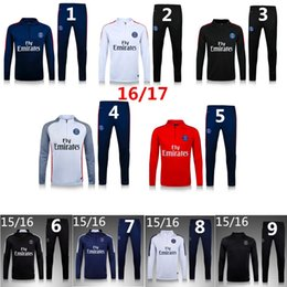 Wholesale New PSG tracksuit DI MARIA jacket with pants Survetement Tracksuit Maillot coat chandal Paris sweater jackets soccer sports jerse y