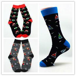 Wholesale Men s happy socks brand cotton socks holesale cotton personality cartoon patterns socks anime Christmas socks skateboard tube crew Socks