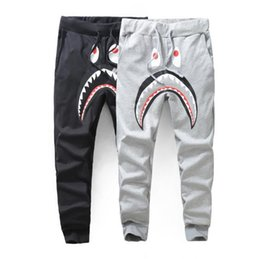 Wholesale 2016 summer new wave of men s casual pants brand ape shark printing thin section Wei pants men trousers feet