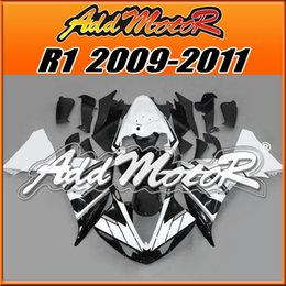 Wholesale 5Free Gifts Addmotor New Goods Hot Sell Injection Mold Plastic Fairings For Yamaha YZF R1 YZF R1 Body Kit Black White Y1952