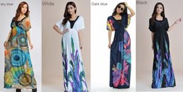 Women Plus Size Floral Maxi Bohemian Beach Summer Long Dress M- 6XL