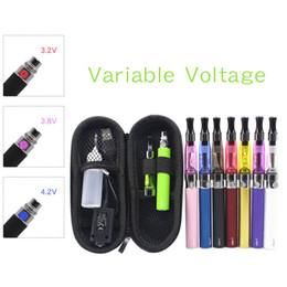 Métal cas ecig à vendre-Cigarettes EGO-T CE4 électroniques Kits EGO Ecig Kits variable Tension Btteries 650mAh 900mAh 1100mah CE4 atomiseur avec étui Zipper EGO