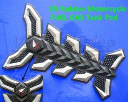 Gray 3D Rubber Motorcycle FUEL GAS Tank Pad Cover Protector Decal Stickers For HOND High Quality