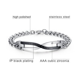 Brand Design Bracelets For Couples Stainless Steel Lovers Wedding Female Male