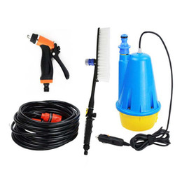 Wholesale ABS Portable Car Washer Full Sets Intellighent High Pressure Submersible Pump Washer Gun Kits with Foam Brush