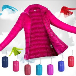 Wholesale new super thin and short fashion down wear women s clothing Advanced light feather coat collar cultivate one s