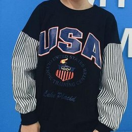Wholesale Vetements Men And Women Leisure Sweater Fashion printing stitching Sweatshirt OVER SIZE Loose BF Long sleeves Jogging Pullovers