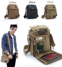 2016 High Quality Men's Canvas Bag Multifunction Leisure Oblique Cross Bag Men's Shoulder Bags Men Messenger Bags
