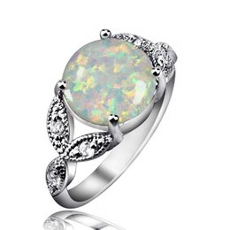 Wholesale Classic Design Fire Opal Gem Rings Sterling Silver Mid finger Rings For Women Best Anniversary Gift Wedding Jewelry