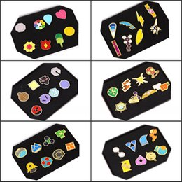 Wholesale 2016 New Hot Sale Poke mon Pavilion Badge Brooch Alloy jewelry Kids Toy Poke Go Game Styles with Beauty box PK683