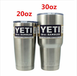 Wholesale 2016 new arrival YETI cups Rambler Colster Vacuu Tumbler Bilayer Stainless Steel Insulation Cup OZ Car Beer Mug Mug Tumblerful