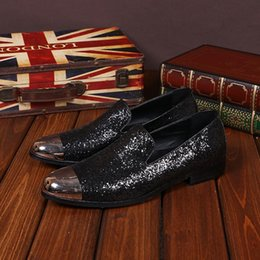 2016 New Men Dress Wedding Shoes Slip on Driving Loafers Genuine Leather Men's Italian Style Fashion Flats Shoes Mens Lazy Flat