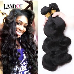 Wholesale Cheap Chinese Body Wave Hair - Peruvian Indian Malaysian Cambodian Brazilian Body Wave Wavy Hair Weaves Bundles Dyeable Natural Color Cheap Human Hair Extensions 3 4 5 Pcs